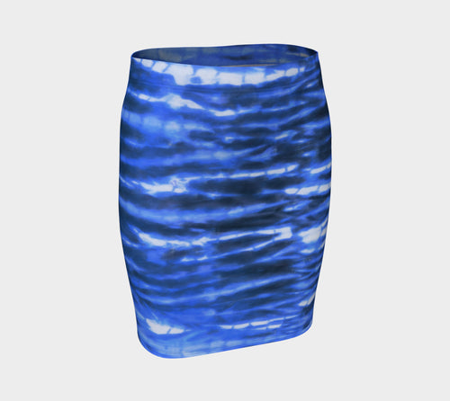 Shibori Stripe Fitted Skirt