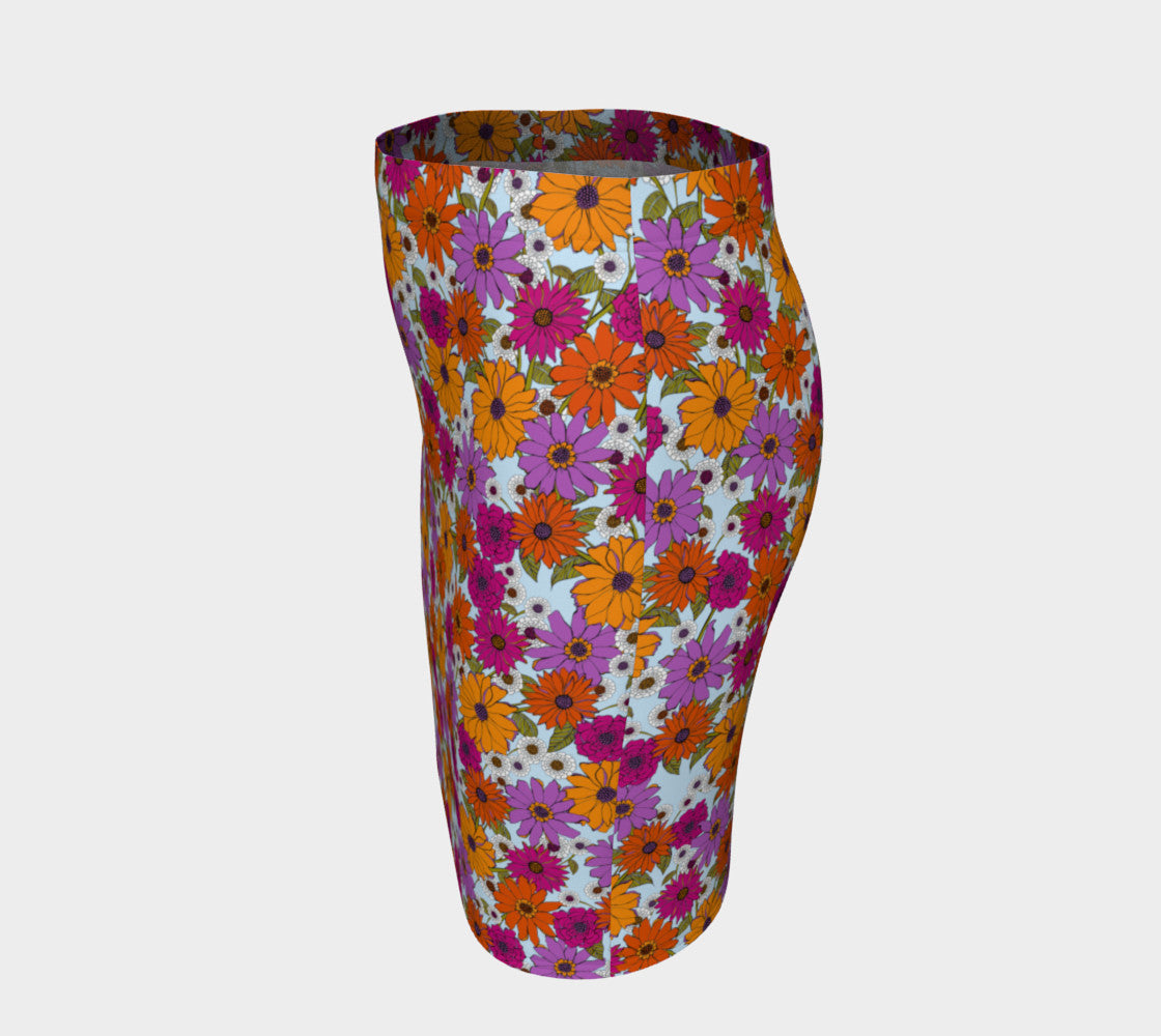 Retro Floral Fitted Skirt Fitted Skirt Roxie Rudolph