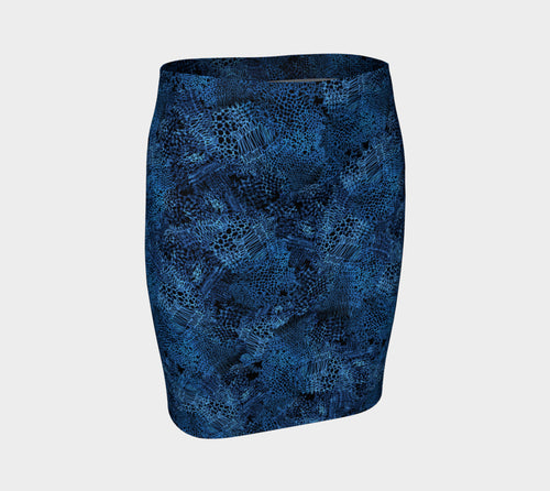 Unraveled Knit Fitted Skirt
