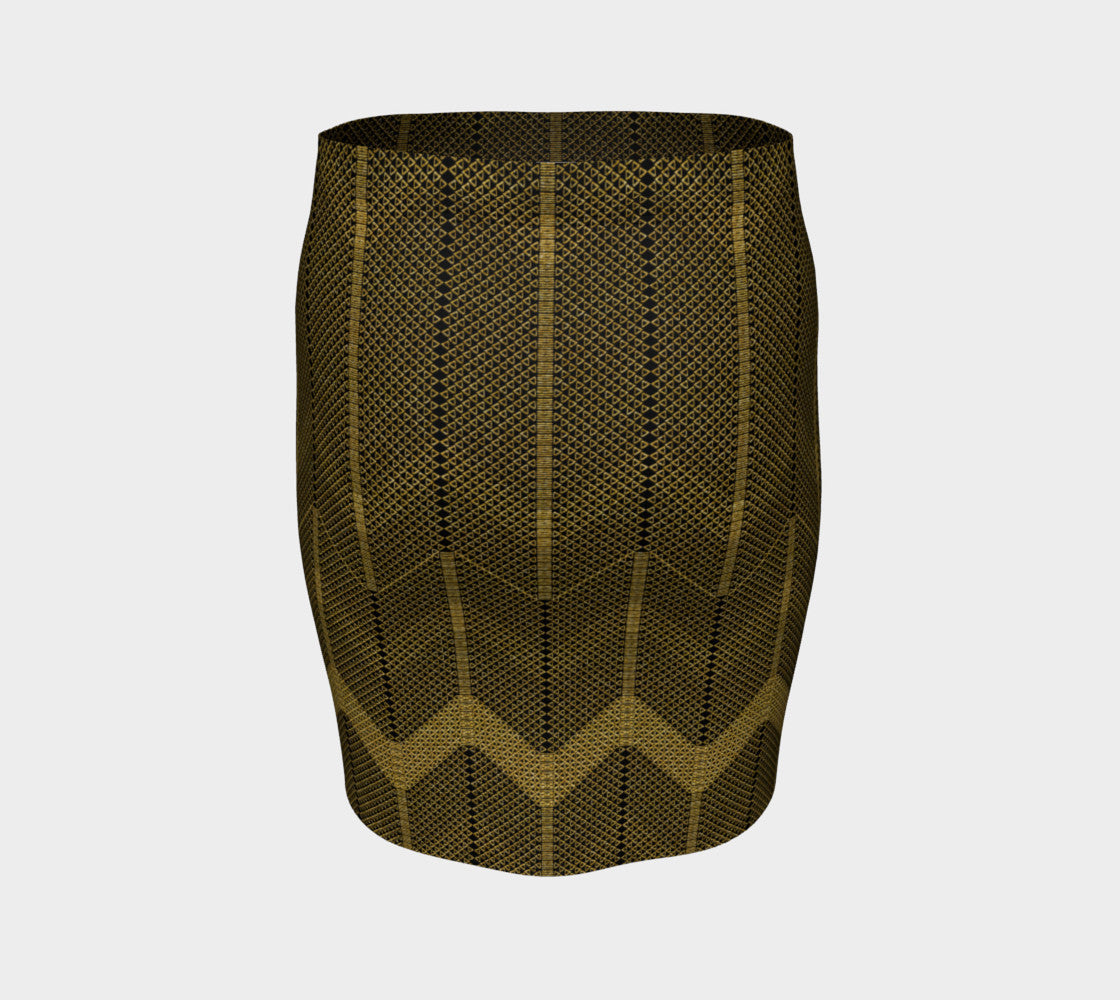 Gold Foil Mesh Fitted Skirt Fitted Skirt  Roxie Rudolph Roxie Rudolph Roxie Rudolph