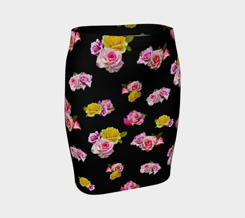 Photoreal Floral Fitted Skirt