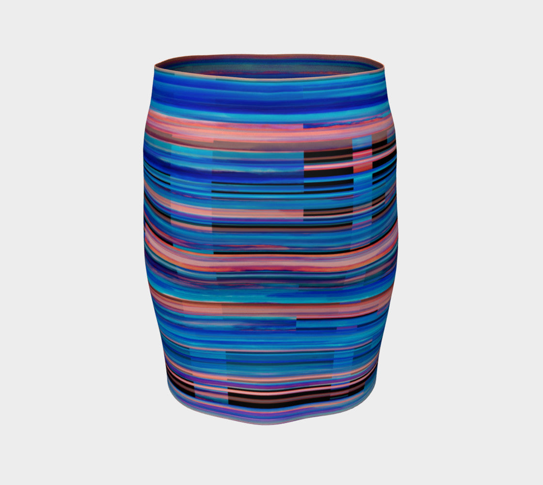 Taos Sunset Fitted Skirt