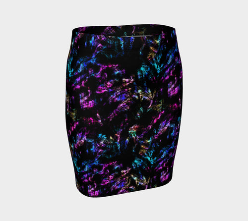 Neon Snake Fitted Skirt