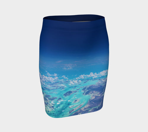 Angel Over Aruba Fitted Skirt