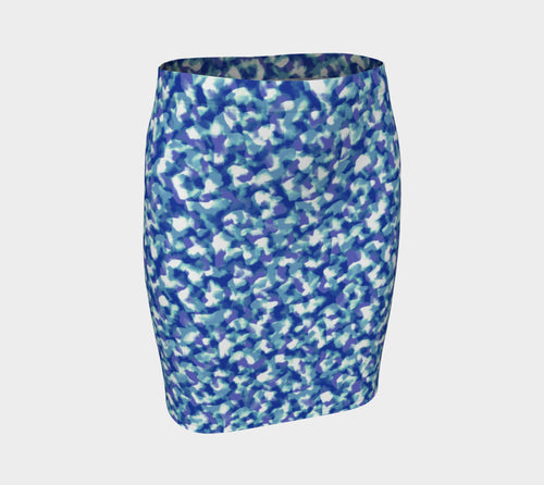 Blue Bliss Fitted Skirt
