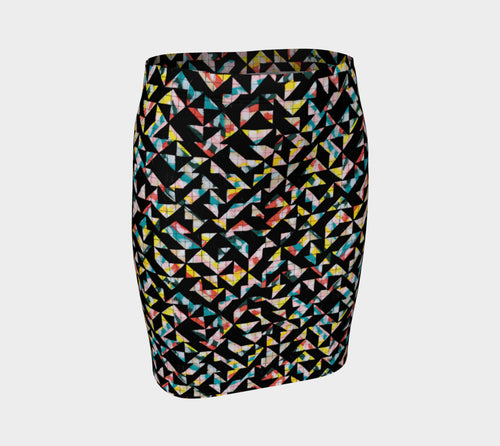 Geo Grid Fitted Skirt