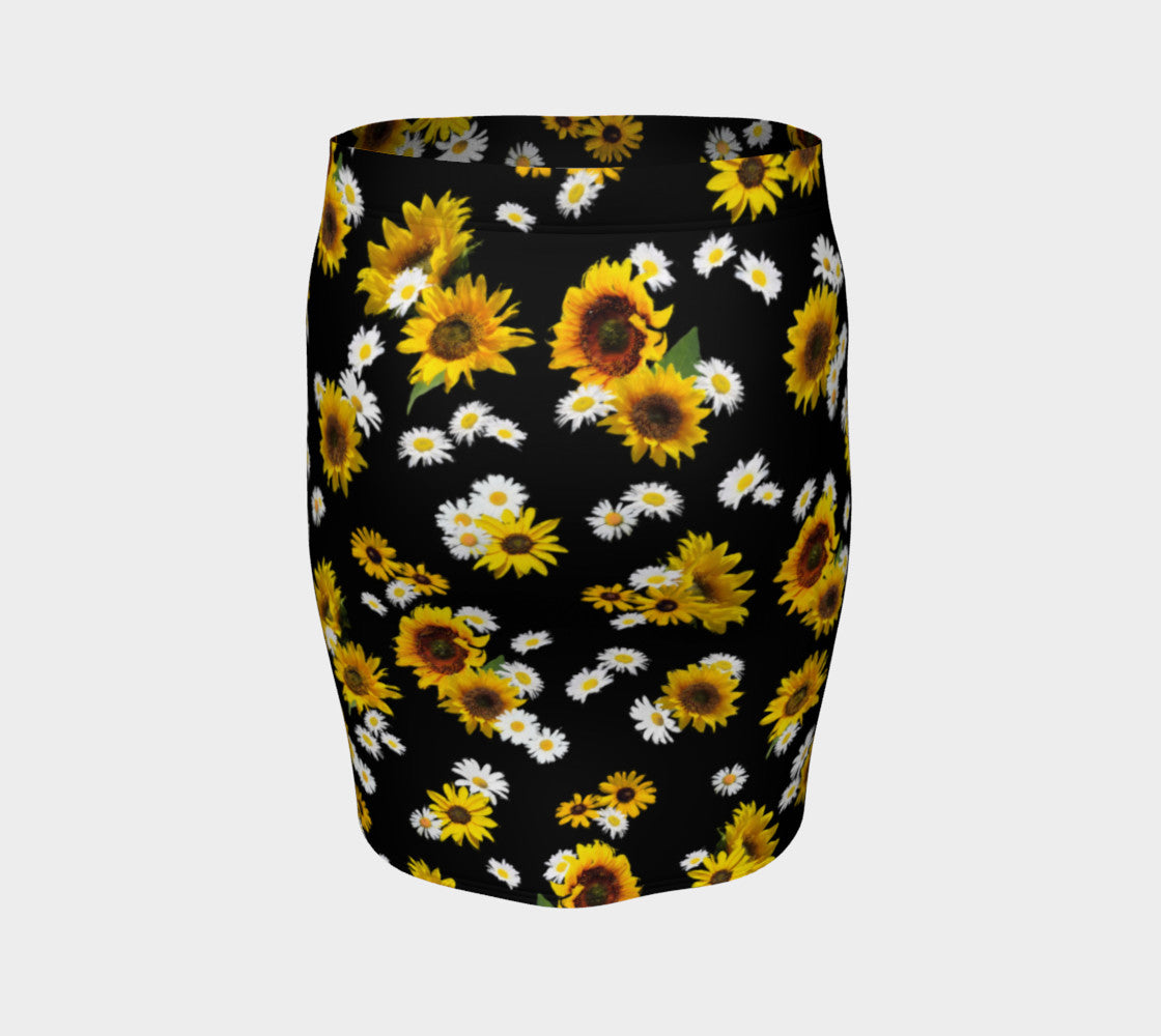 Sunflowers and Daisies Fitted Skirt Fitted Skirt  Roxie Rudolph Roxie Rudolph Roxie Rudolph