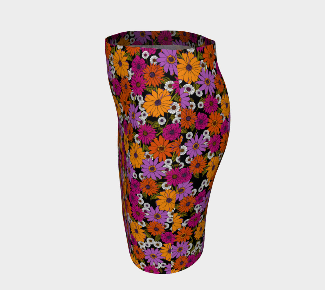 Retro Floral Fitted Skirt