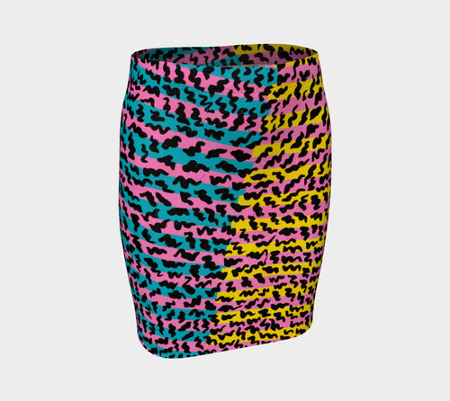 80's Pop Fitted Skirt