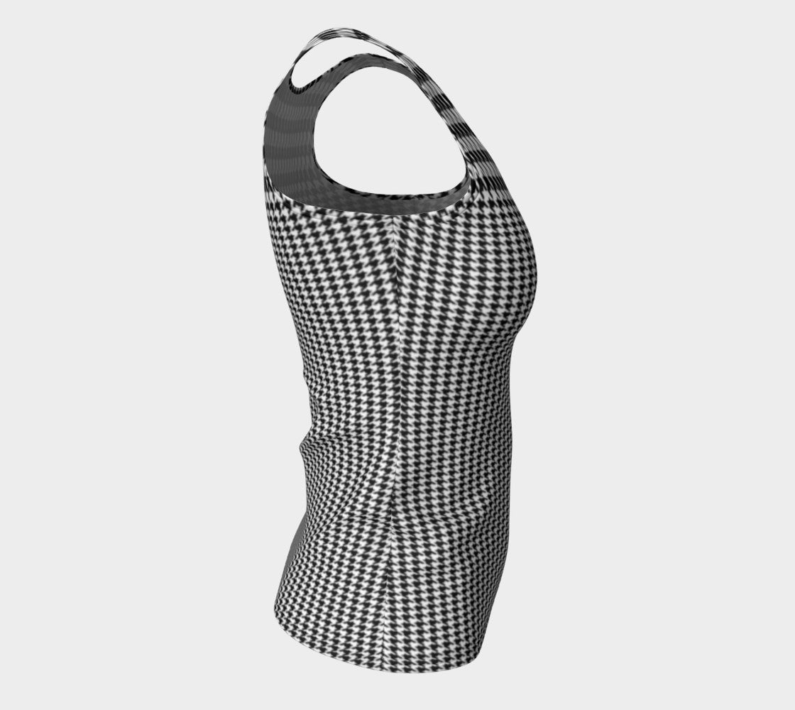 Houndstooth Fitted Tank Top/Long Length Fitted Tank Top (Long)  Roxie Rudolph Roxie Rudolph Roxie Rudolph