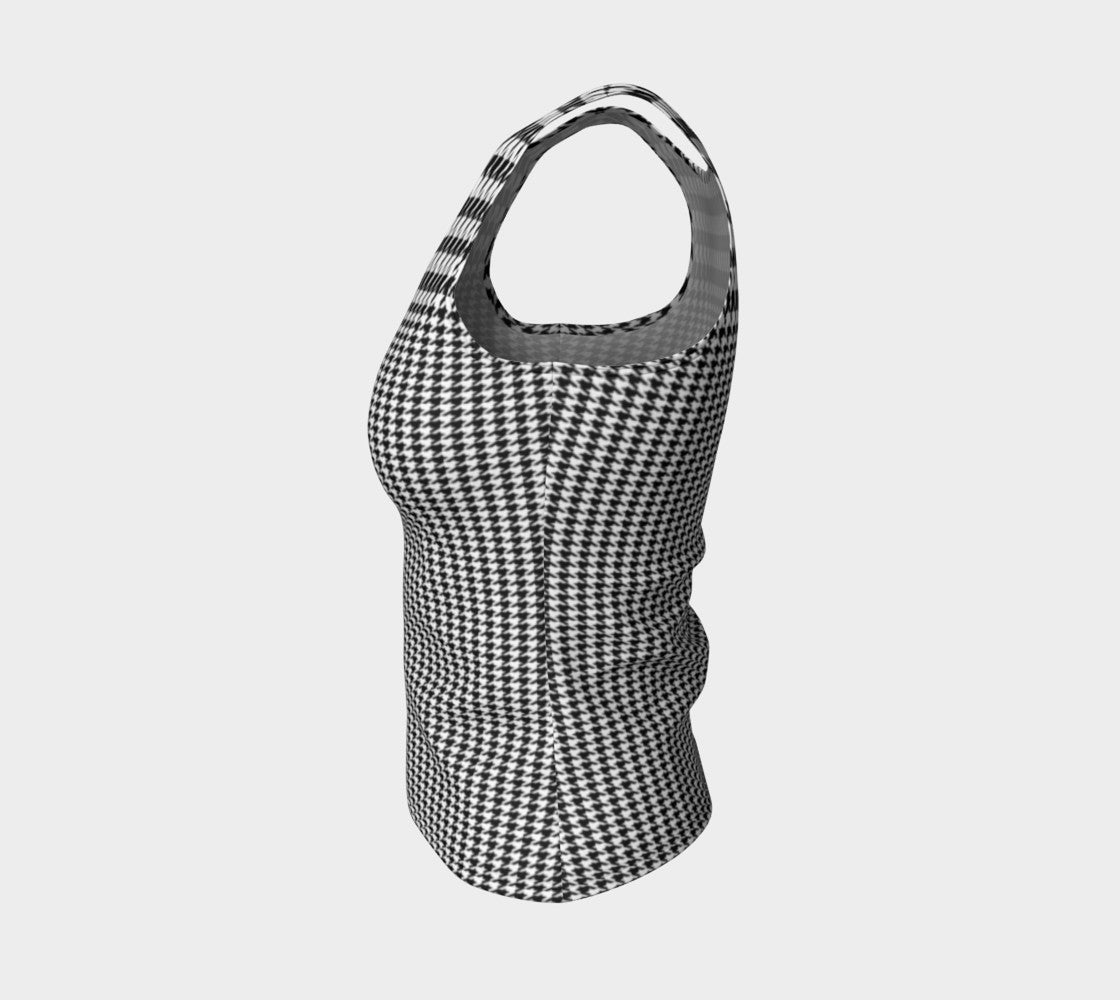 Houndstooth Fitted Tank Top/Regular Length Fitted Tank Top (Regular)  Roxie Rudolph Roxie Rudolph Roxie Rudolph