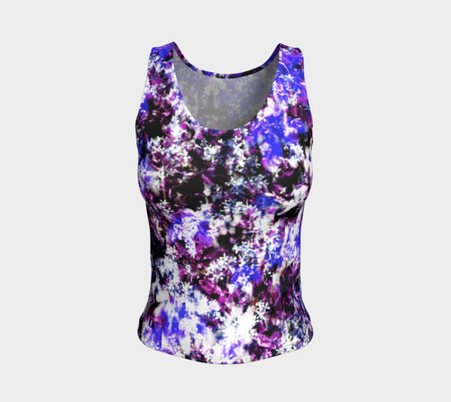 Fantasy Floral Fitted Tank Top/Regular Length