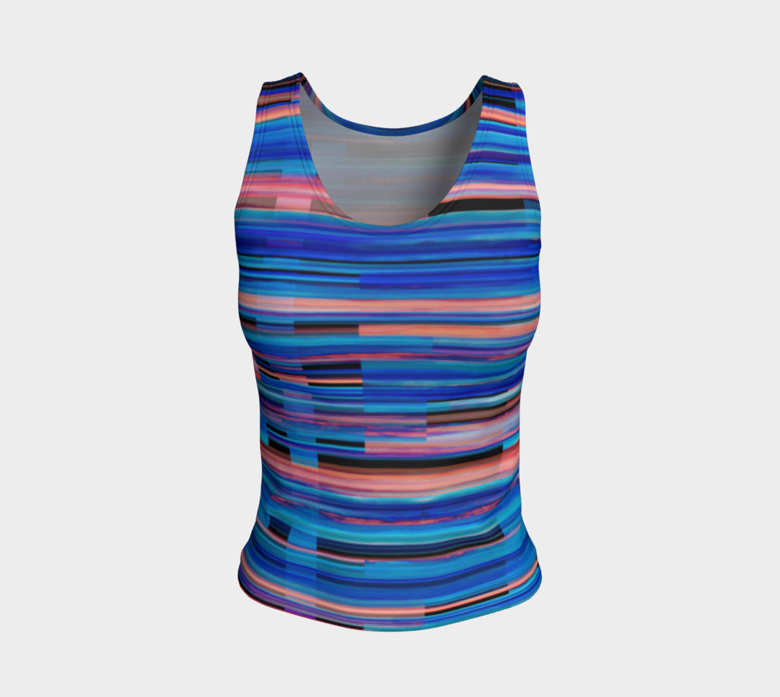 Taos Sunset Fitted Tank Top/Regular Length Fitted Tank Top (Regular)  Roxie Rudolph Roxie Rudolph Roxie Rudolph