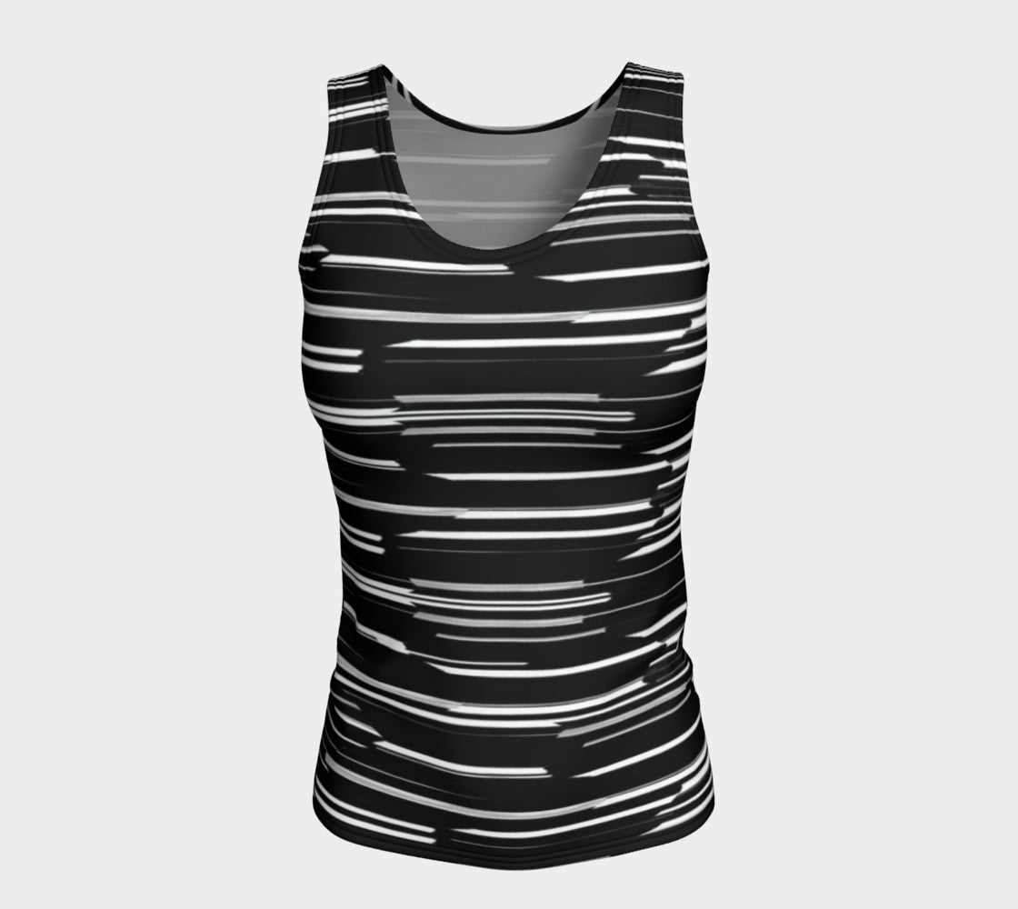Smeared Stripe Fitted Tank Top/Long Length Fitted Tank Top (Long)  Roxie Rudolph Roxie Rudolph Roxie Rudolph