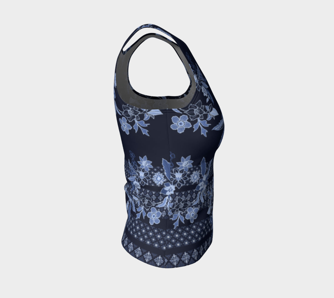 Boho Floral Fitted Tank Top/Regular Length Fitted Tank Top (Regular)  Roxie Rudolph Roxie Rudolph Roxie Rudolph
