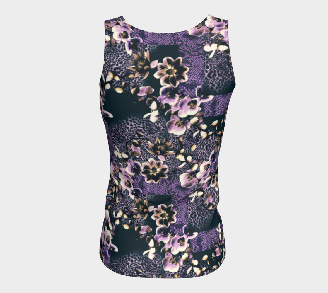 Floral Animal Fitted Tank Top/Long Length Fitted Tank Top (Long)  Roxie Rudolph Roxie Rudolph Roxie Rudolph