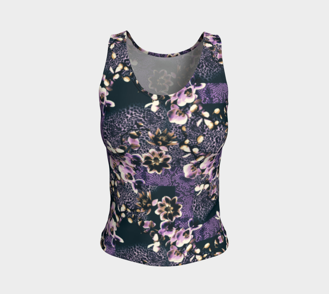 Floral Animal Fitted Tank Top/Regular Length Fitted Tank Top (Regular)  Roxie Rudolph Roxie Rudolph Roxie Rudolph