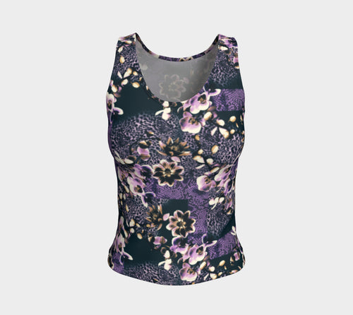 Floral Animal Fitted Tank Top/Regular Length