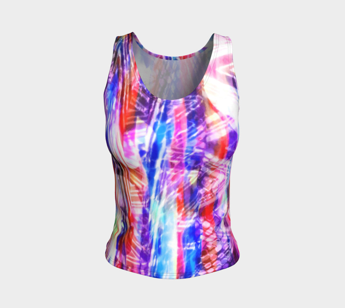 Zig Zag Overlay Fitted Tank Top/Regular Length Fitted Tank Top (Regular)  Roxie Rudolph Roxie Rudolph Roxie Rudolph