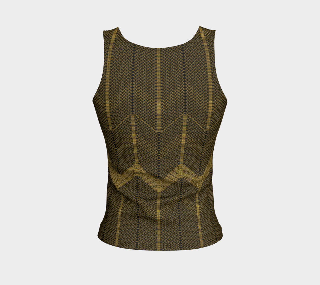 Gold Foil Mesh Fitted Tank Top/Regular Length Fitted Tank Top (Regular)  Roxie Rudolph Roxie Rudolph Roxie Rudolph