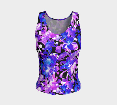 Moody Lily Fitted Tank Top/Regular Length