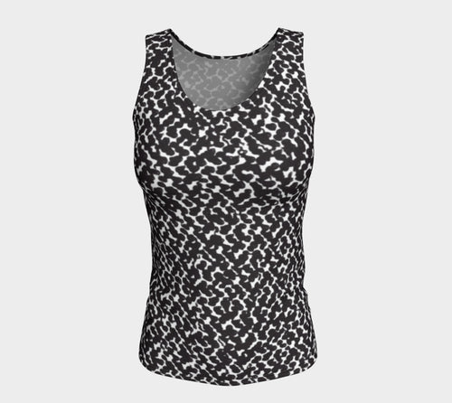 Graphic Animal Fitted Tank Top/Long Length