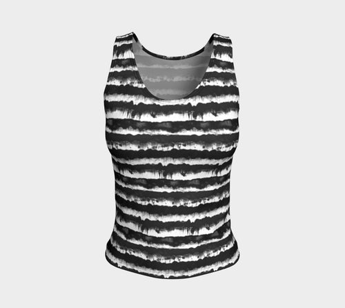 Inky Stripe Fitted Tank Top/Regular Length