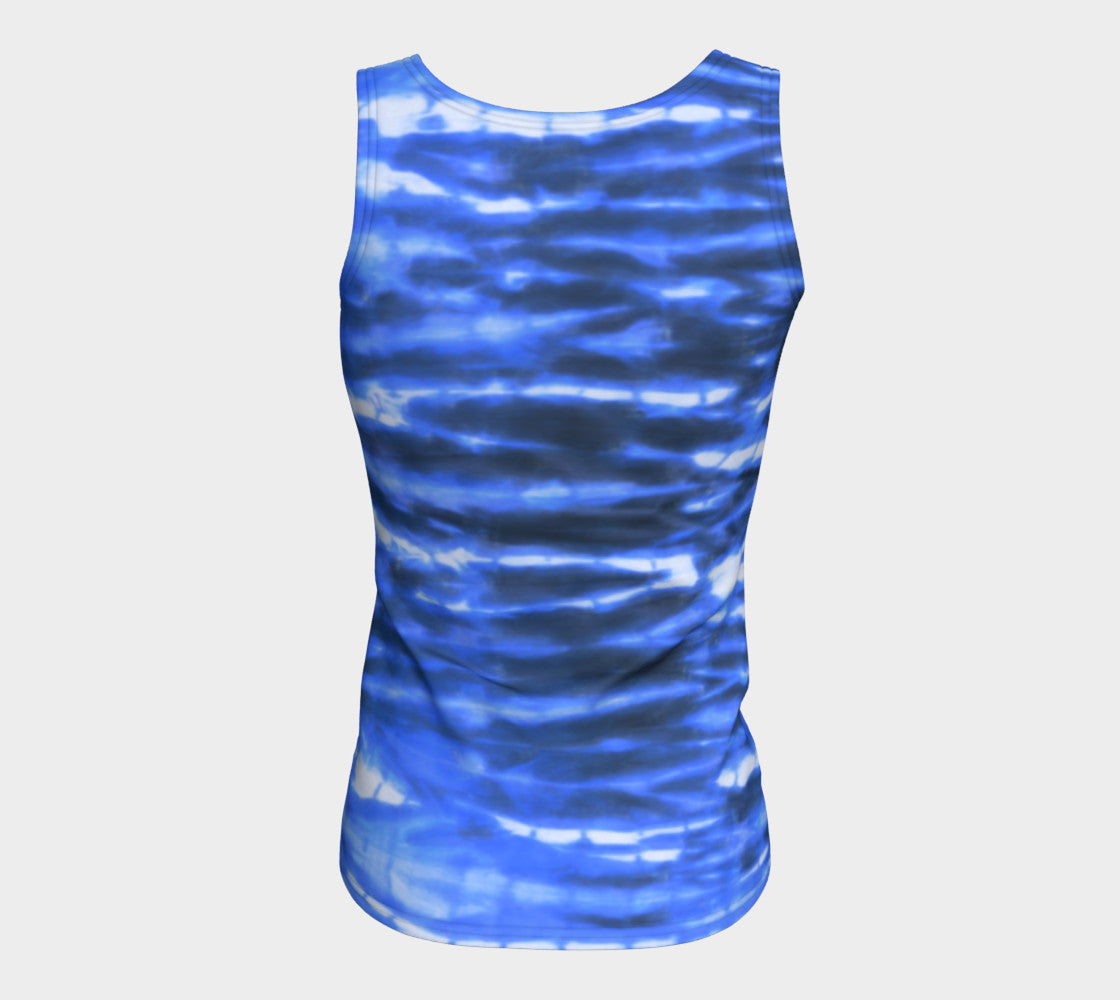 Shibori Stripe Fitted Tank Top/Long Length Fitted Tank Top (Long)  Roxie Rudolph Roxie Rudolph Roxie Rudolph