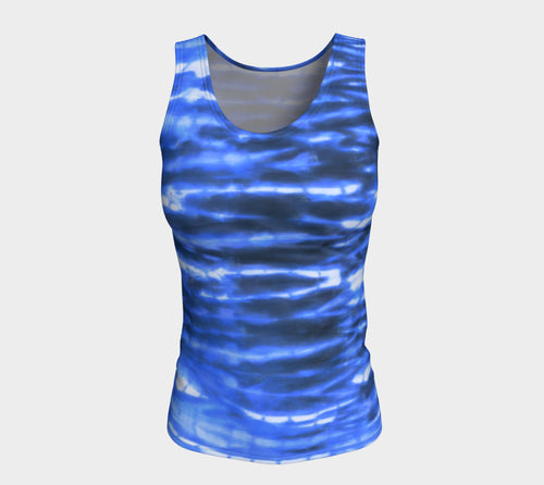 Shibori Stripe Fitted Tank Top/Long Length