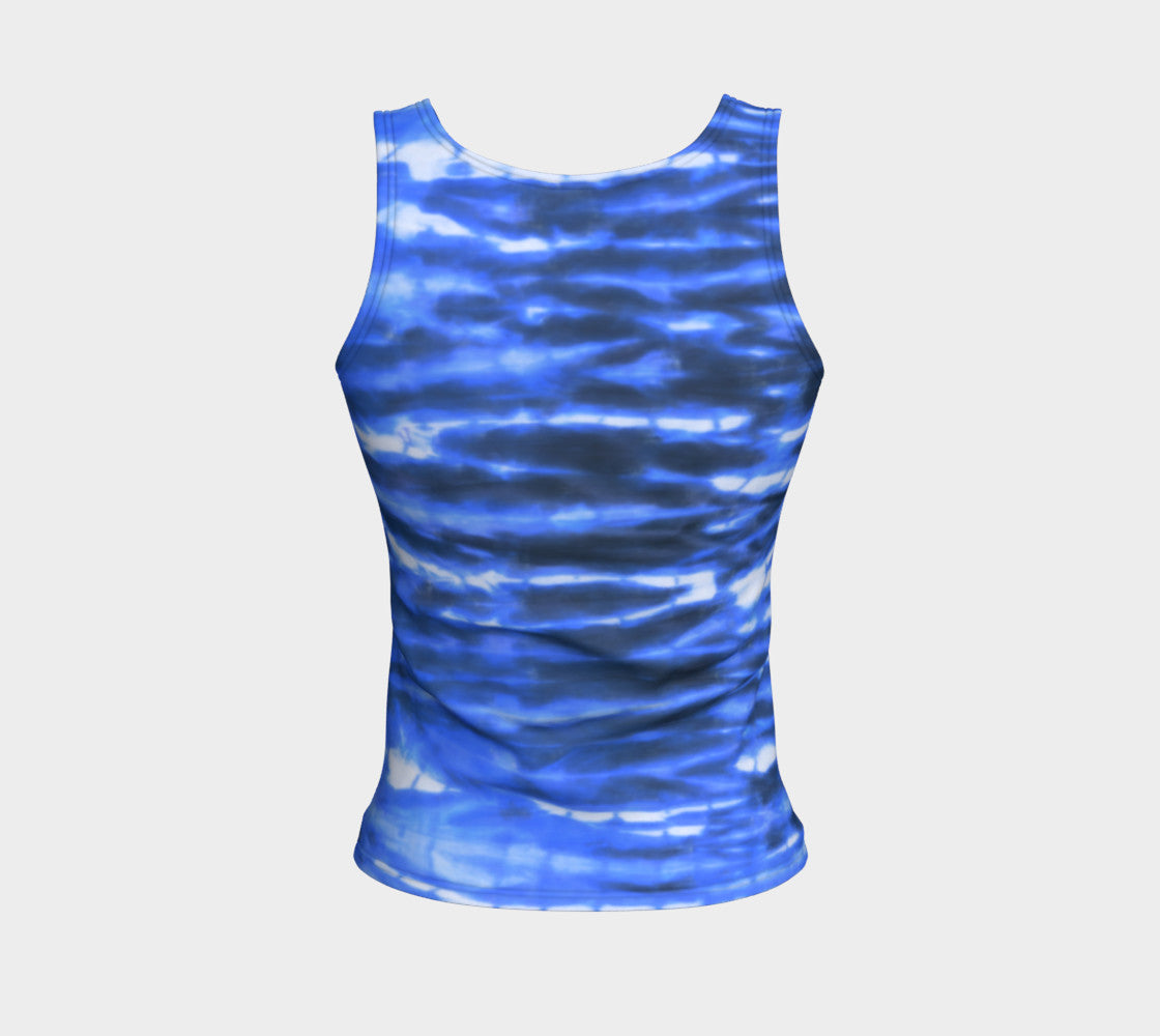 Shibori Stripe Fitted Tank Top/Regular Length