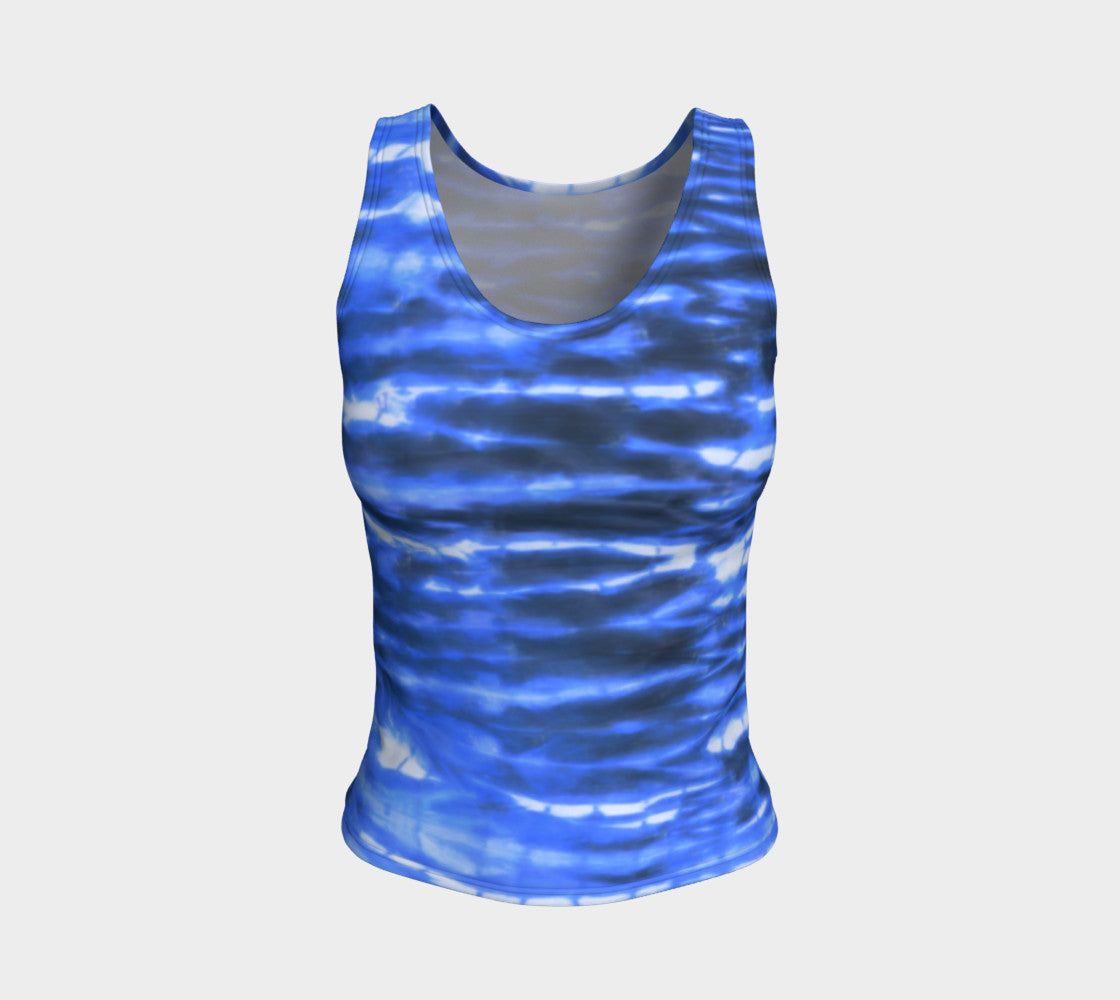 Shibori Stripe Fitted Tank Top/Regular Length Fitted Tank Top (Regular)  Roxie Rudolph Roxie Rudolph Roxie Rudolph