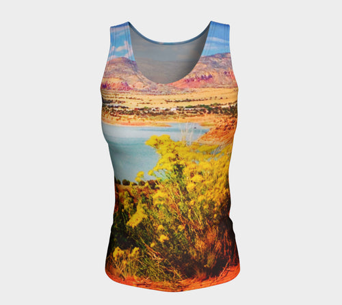 Abiquiu Lake Fitted Tank Top/Long Length