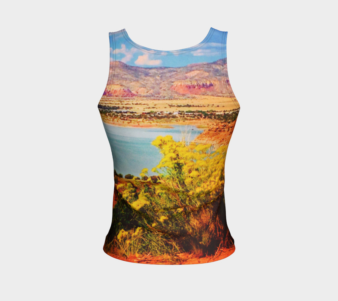 Abiquiu Lake Fitted Tank Top/Regular Length Fitted Tank Top (Regular)  Roxie Rudolph Roxie Rudolph Roxie Rudolph