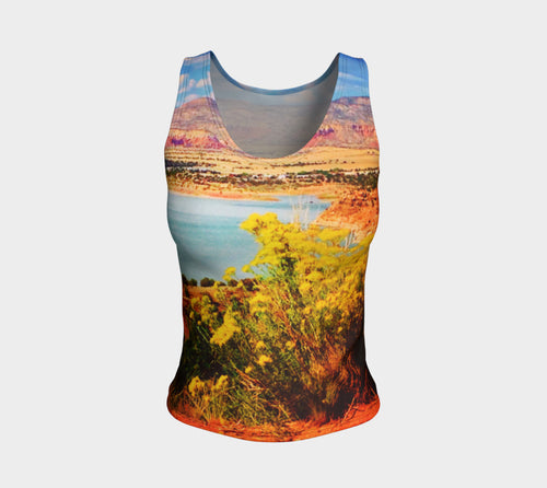 Abiquiu Lake Fitted Tank Top/Regular Length