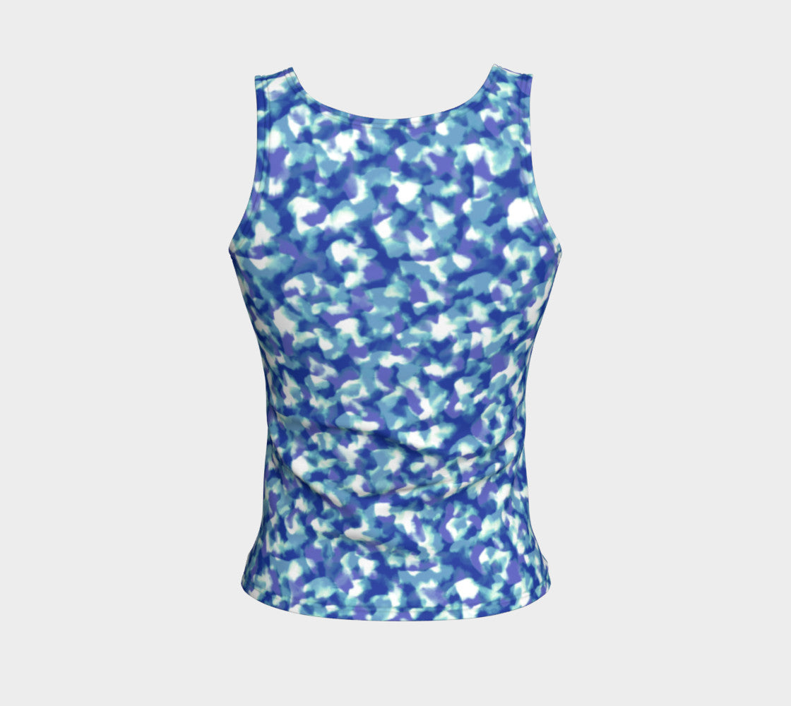 Blue Bliss Fitted Tank Top/Regular Length Fitted Tank Top (Regular)  Roxie Rudolph Roxie Rudolph Roxie Rudolph