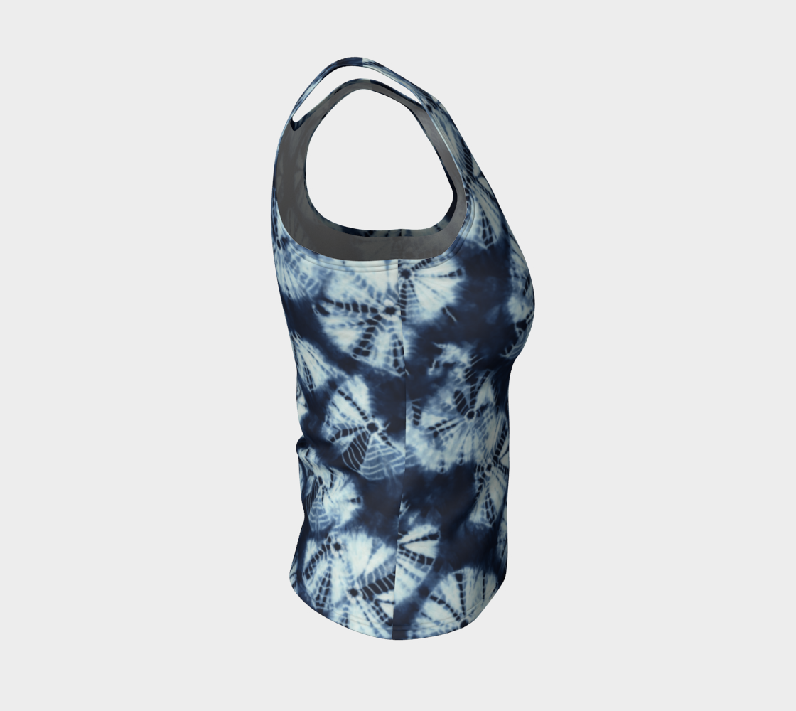 Shibori Fitted Tank Top/Regular Length Fitted Tank Top (Regular)  Roxie Rudolph Roxie Rudolph Roxie Rudolph