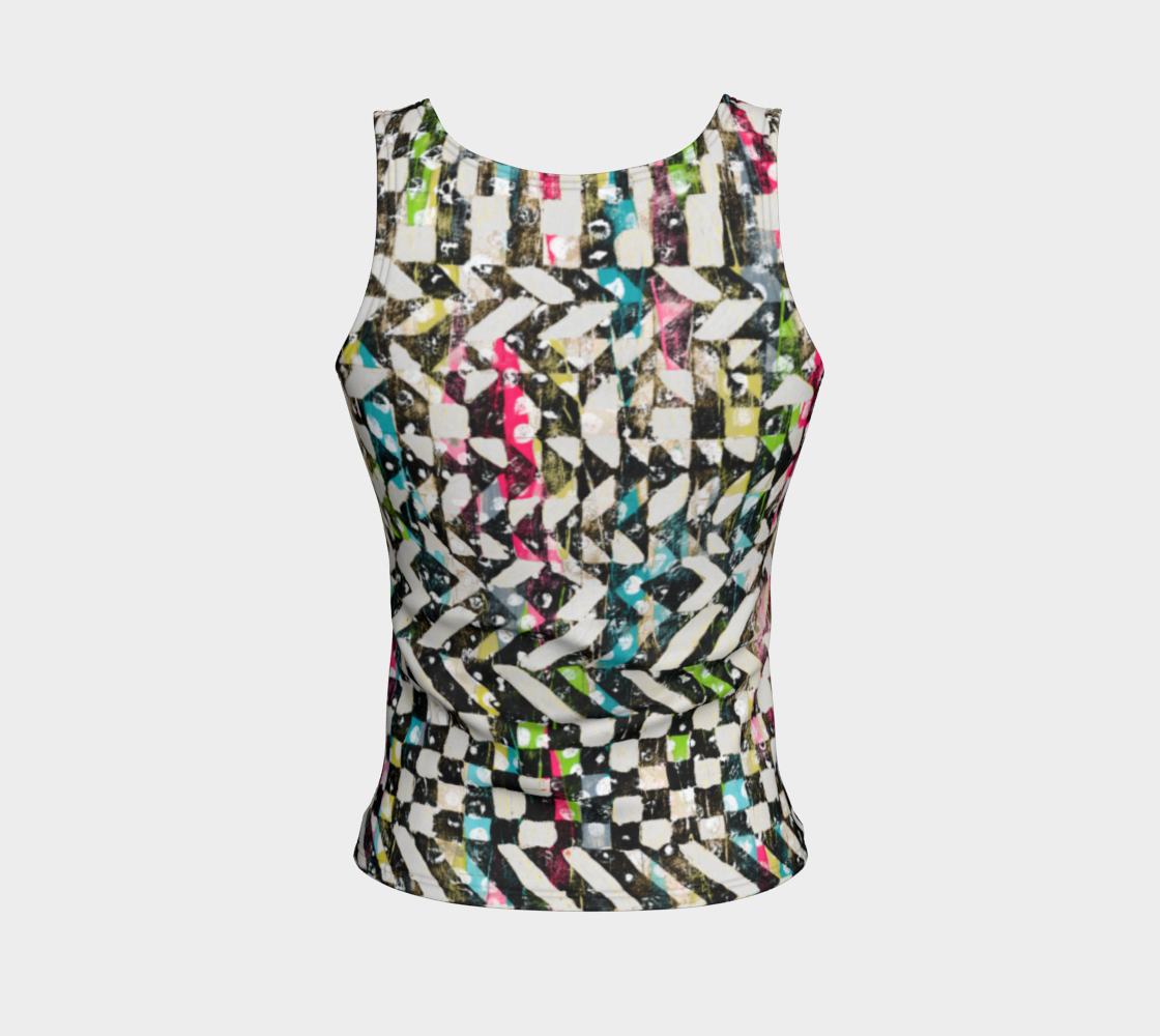 Checkered Canvas Fitted Tank Top/Regular Length Fitted Tank Top (Regular)  Roxie Rudolph Roxie Rudolph Roxie Rudolph