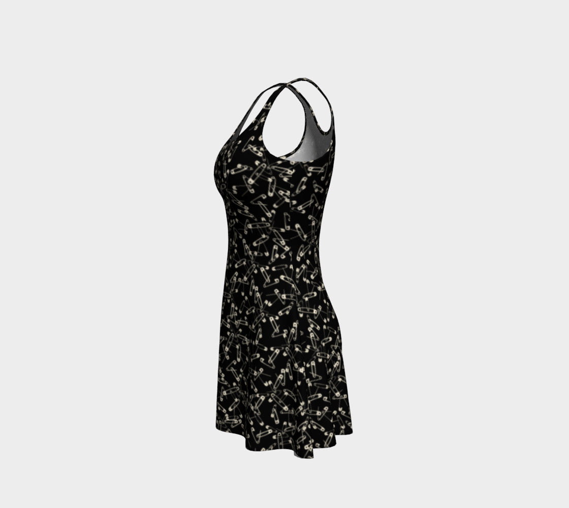 Safety Pin Flare Dress
