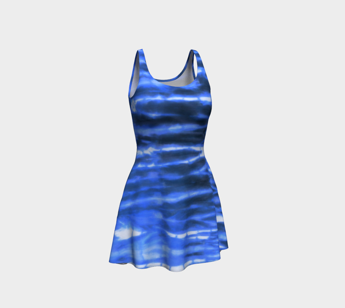 Shibori Stripe Flare Dress