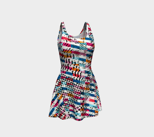 Patternmix Block Print Flare Dress
