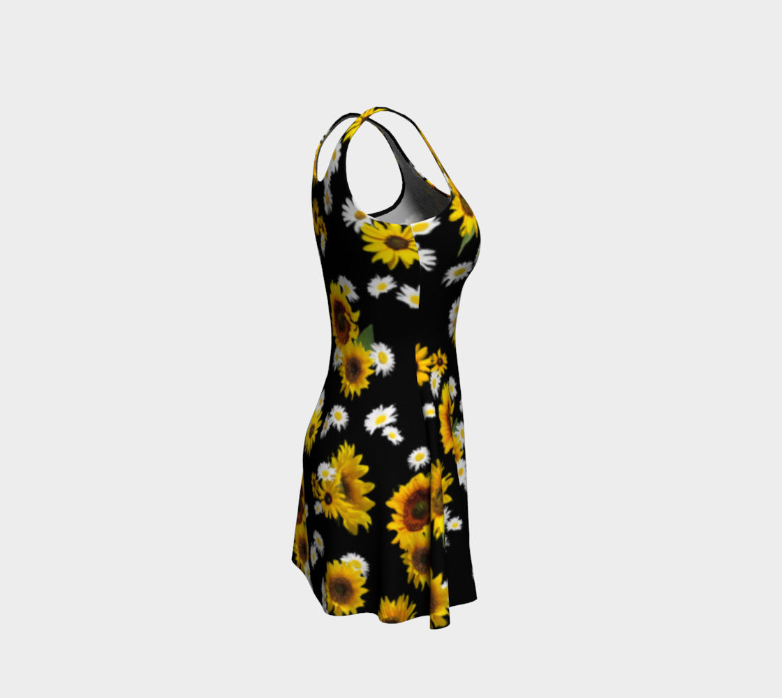 Sunflowers and Daisies Flare Dress