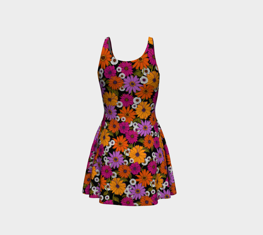 Retro Floral Flare Dress Flare Dress  Roxie Rudolph Roxie Rudolph Roxie Rudolph