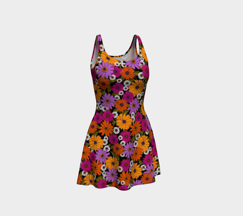 Retro Floral Flare Dress