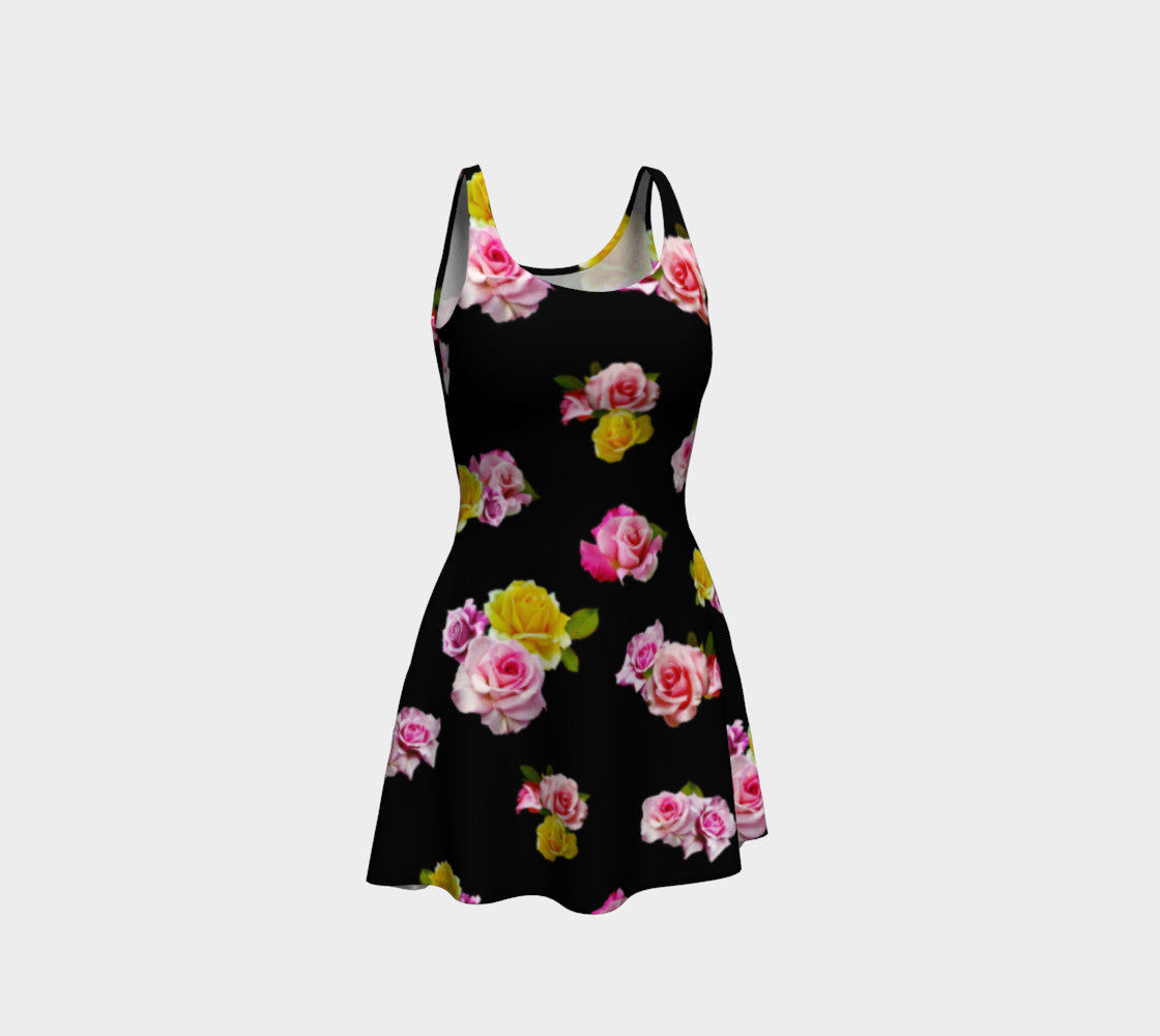 Photoreal Floral Flare Dress
