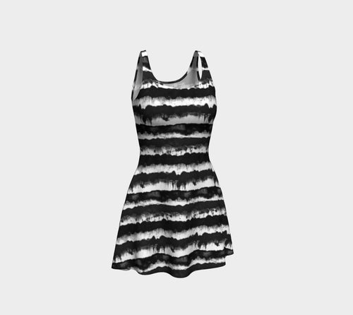 Inky Stripe Flare Dress