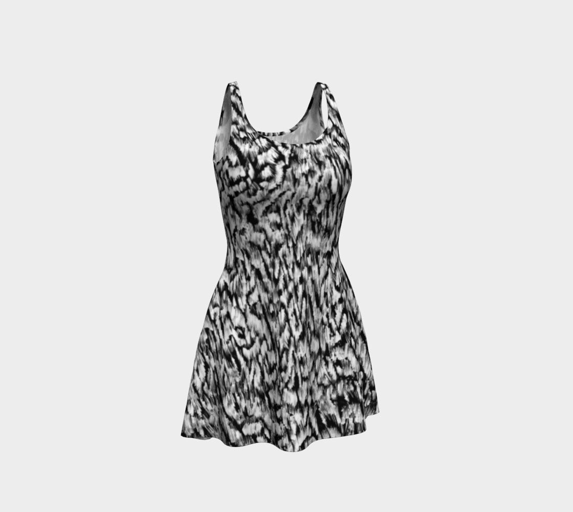 Black + White Animal Flare Dress Flare Dress  Roxie Rudolph Roxie Rudolph Roxie Rudolph