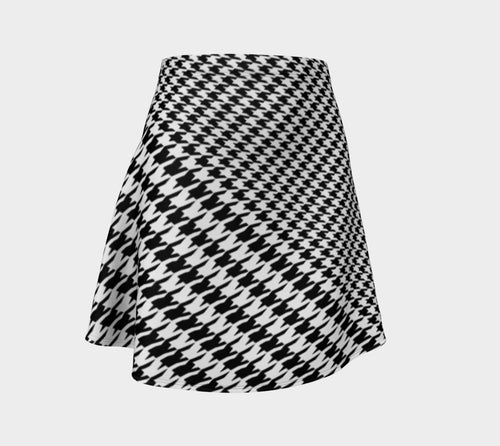 Houndstooth Flare Skirt