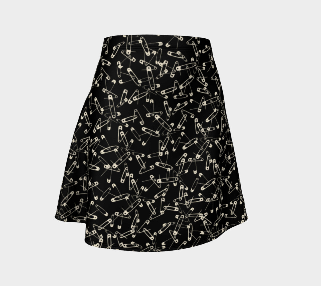 Safety Pin Flare Skirt Flare Skirt  Roxie Rudolph Roxie Rudolph Roxie Rudolph