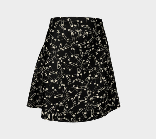 Safety Pin Flare Skirt