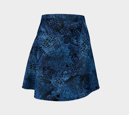 Unraveled Knit Flare Skirt